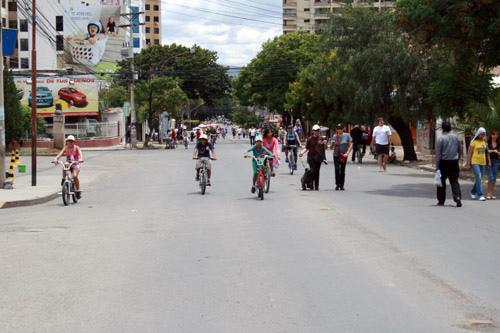 Journée sans voitures à Cochabamba